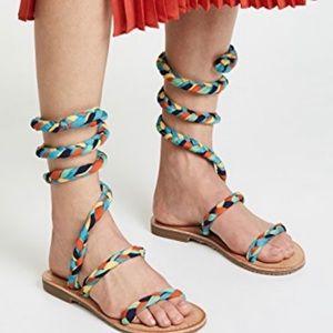 Free People Havana Rainbow Gladiator Sandals